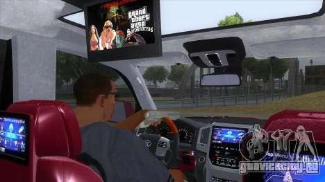 2016 Toyota Land Cruiser 200 V2 для GTA San Andreas вид изнутри