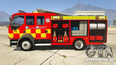 DAF Lancashire Fire & Rescue Fire Appliance для GTA 5 вид слева