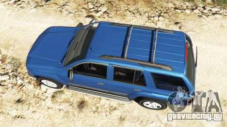 Chevrolet TrailBlazer для GTA 5 вид сзади