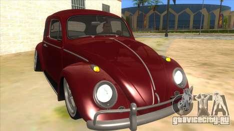 Volkswagen Beetle Aircooled V2 для GTA San Andreas вид сзади