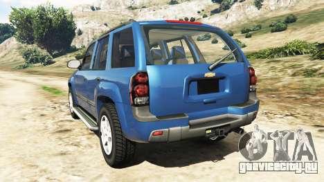 Chevrolet TrailBlazer для GTA 5 вид сзади слева