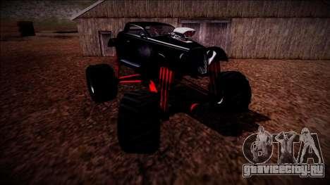GTA 5 Hotknife Monster Truck для GTA San Andreas вид снизу