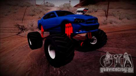 2006 Dodge Charger SRT8 Monster Truck для GTA San Andreas вид справа