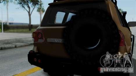 Toyota Land Cruiser 2013 Off-Road для GTA San Andreas вид сзади