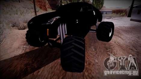 Nissan 350Z Monster Truck для GTA San Andreas вид сверху