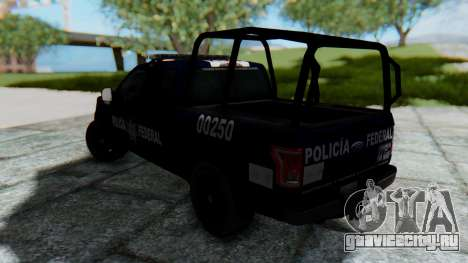 Ford F-150 2015 Policia Federal для GTA San Andreas вид слева