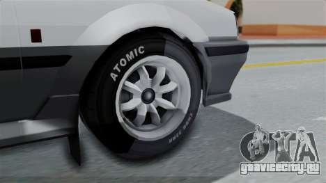 GTA 5 Karin Futo Rally Car v2.0 для GTA San Andreas вид сзади слева