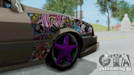 Cadrona Cabrio JDM для GTA San Andreas вид сзади слева