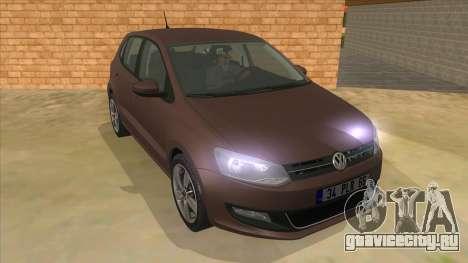 Volkswagen Polo 6R 1.4 для GTA San Andreas вид сзади