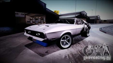 1971 Ford Mustang Drag для GTA San Andreas вид сзади