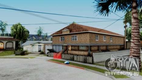 Новые текстуры дома CJя v2 (c интерьером) для GTA San Andreas