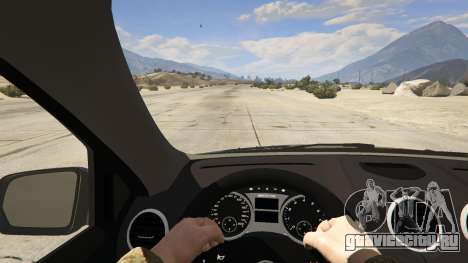 2009 Mercedes-Benz ML63 AMG FBI для GTA 5 вид сзади