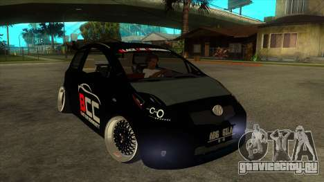 Toyota Yaris (Vitz) [Black Car Community] для GTA San Andreas вид сзади