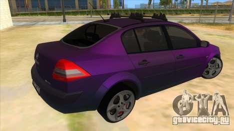 Renault MEGANE 2 для GTA San Andreas вид справа