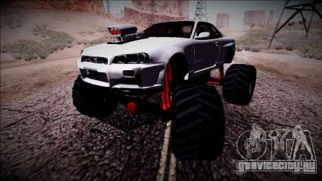 Nissan Skyline R34 Monster Truck для GTA San Andreas