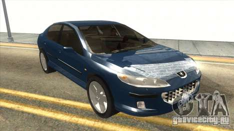 Peugeot 407 для GTA San Andreas вид сзади