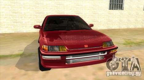 Honda Civic Ef Sedan для GTA San Andreas вид сзади