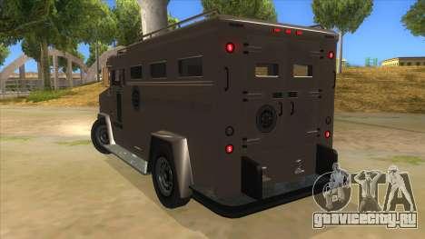 GTA 5 Brute Riot Police для GTA San Andreas вид сзади слева