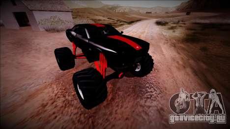 GTA 5 Bravado Gauntlet Monster Truck для GTA San Andreas вид снизу