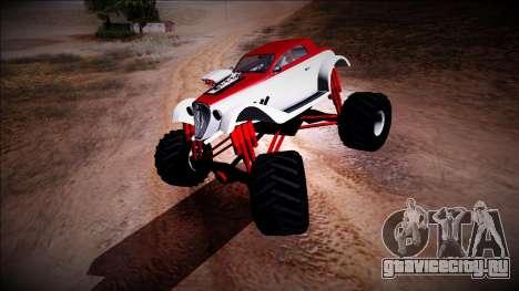 GTA 5 Hotknife Monster Truck для GTA San Andreas вид слева