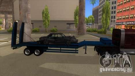 Trailer with Hydaulic Ramps для GTA San Andreas вид сзади слева