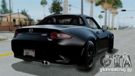 Mazda MX-5 Miata 2016 для GTA San Andreas вид слева