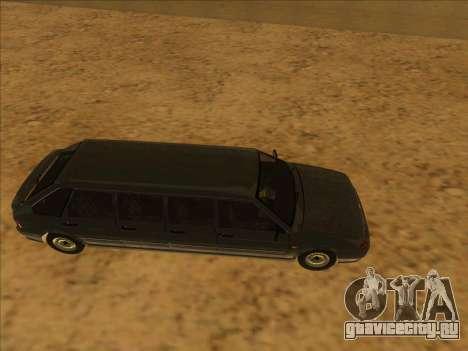 VAZ 2114 9-door для GTA San Andreas вид сзади слева