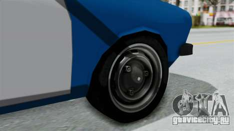 Dacia 1300 Police для GTA San Andreas вид сзади слева
