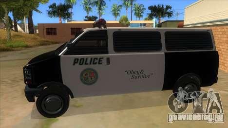 GTA 5 Burrito Transport для GTA San Andreas вид слева