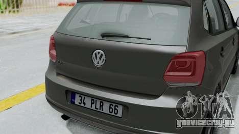 Volkswagen Polo 6R 1.4 HQLM для GTA San Andreas вид сзади