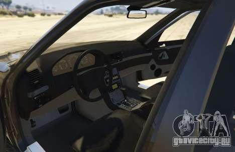 Mercedes-Benz S600 (W140) [Replace] v1.1 для GTA 5 вид сзади