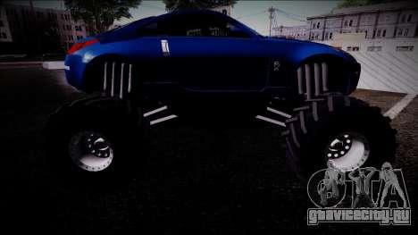Nissan 350Z Monster Truck для GTA San Andreas вид справа