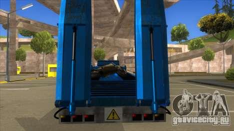 Trailer with Hydaulic Ramps для GTA San Andreas вид изнутри