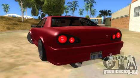 GTR Elegy для GTA San Andreas вид сзади слева