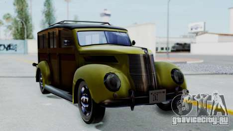 Ford V-8 De Luxe Station Wagon 1937 Mafia2 v1 для GTA San Andreas