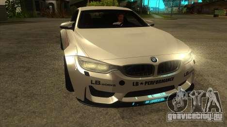 BMW M4 Liberty Walk Performance для GTA San Andreas вид сзади
