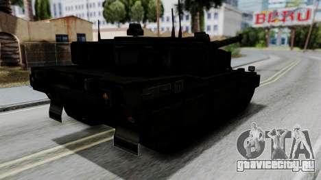 Point Blank Black Panther Woodland для GTA San Andreas вид слева