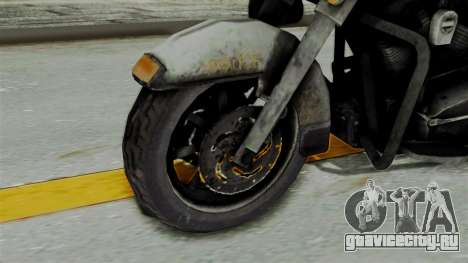 Police Bike from RE ORC для GTA San Andreas вид сзади слева