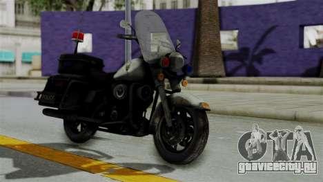 Police Bike from RE ORC для GTA San Andreas вид справа
