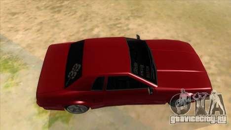 GTR Elegy для GTA San Andreas вид изнутри
