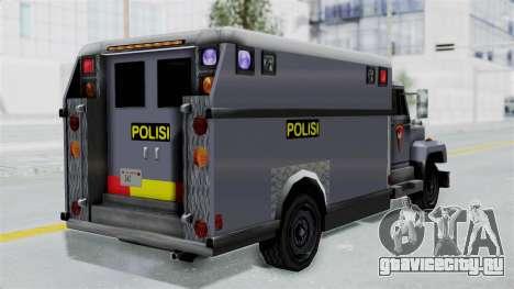 Indonesian Police BRIMOB Enforcer для GTA San Andreas вид слева