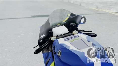 Yamaha YZR M1 2016 для GTA San Andreas вид сзади