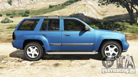 Chevrolet TrailBlazer для GTA 5 вид слева