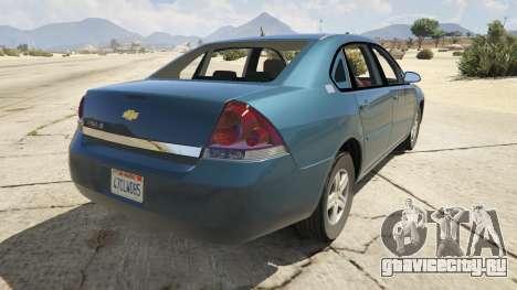 Chevrolet Impala для GTA 5 вид сзади слева
