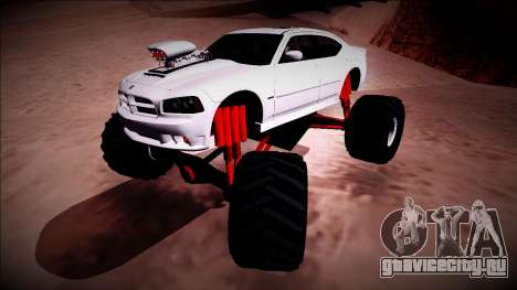 2006 Dodge Charger SRT8 Monster Truck для GTA San Andreas вид сверху