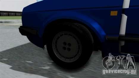 Volkswagen Golf Mk2 Milicija для GTA San Andreas вид сзади слева