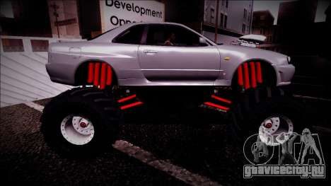 Nissan Skyline R34 Monster Truck для GTA San Andreas вид снизу