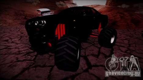Nissan Skyline R34 Monster Truck для GTA San Andreas вид изнутри