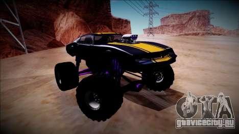 GTA 5 Imponte Phoenix Monster Truck для GTA San Andreas вид изнутри