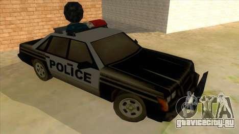 Police Car from Manhunt 2 для GTA San Andreas вид сзади